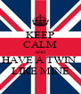 KEEP CALM AND HAVE A TWIN  LIKE MINE - Personalised Poster A4 size