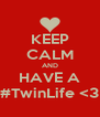 KEEP CALM AND HAVE A #TwinLife <3 - Personalised Poster A4 size