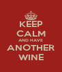 KEEP CALM AND HAVE ANOTHER WINE - Personalised Poster A4 size
