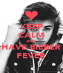 KEEP CALM AND HAVE BIEBER FEVER - Personalised Poster A4 size