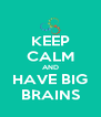 KEEP CALM AND HAVE BIG BRAINS - Personalised Poster A4 size