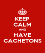 KEEP CALM AND HAVE CACHETONS - Personalised Poster A4 size