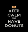 KEEP CALM AND HAVE DONUTS - Personalised Poster A4 size