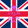 KEEP CALM AND HAVE FUN !! - Personalised Poster A4 size