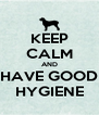 KEEP CALM AND HAVE GOOD HYGIENE - Personalised Poster A4 size