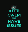 KEEP CALM AND HAVE ISSUES - Personalised Poster A4 size