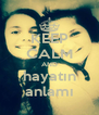 KEEP CALM AND hayatın anlamı - Personalised Poster A4 size