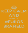 KEEP CALM AND HEAD TO  #EUROS BRAFIELD - Personalised Poster A4 size