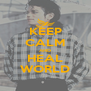 KEEP CALM AND HEAL WORLD - Personalised Poster A4 size