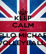 KEEP CALM AND HELLO MICHAEL, VOLLEYBALL? - Personalised Poster A4 size