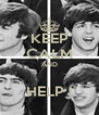 KEEP CALM AND  HELP ! - Personalised Poster A4 size