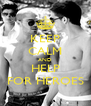 KEEP CALM AND HELP FOR HEROES - Personalised Poster A4 size