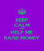 KEEP CALM AND HELP ME RAISE MONEY - Personalised Poster A4 size