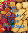 KEEP CALM AND HELP YOURSELF - Personalised Poster A4 size