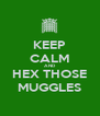 KEEP CALM AND HEX THOSE MUGGLES - Personalised Poster A4 size