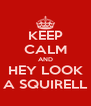KEEP CALM AND HEY LOOK A SQUIRELL - Personalised Poster A4 size