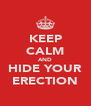 KEEP CALM AND HIDE YOUR ERECTION - Personalised Poster A4 size