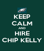 KEEP CALM AND HIRE CHIP KELLY - Personalised Poster A4 size