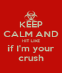 KEEP CALM AND HIT LIKE if I'm your crush - Personalised Poster A4 size