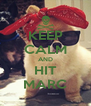 KEEP CALM AND HIT MARC - Personalised Poster A4 size