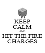 KEEP CALM AND HIT THE FIRE CHARGES - Personalised Poster A4 size