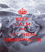 KEEP CALM AND HIT THEM UNDERWATER - Personalised Poster A4 size