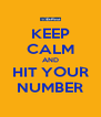 KEEP CALM AND HIT YOUR NUMBER - Personalised Poster A4 size