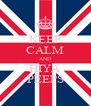 KEEP CALM AND HIYA PEEPS - Personalised Poster A4 size