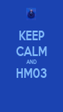 KEEP CALM AND HM03  - Personalised Poster A4 size