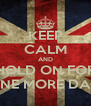 KEEP CALM AND HOLD ON FOR ONE MORE DAY - Personalised Poster A4 size