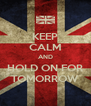 KEEP CALM AND HOLD ON FOR TOMORROW - Personalised Poster A4 size