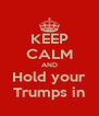 KEEP CALM AND Hold your Trumps in - Personalised Poster A4 size