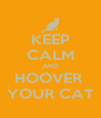 KEEP CALM AND HOOVER  YOUR CAT - Personalised Poster A4 size