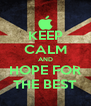 KEEP CALM AND HOPE FOR THE BEST - Personalised Poster A4 size