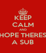 KEEP CALM AND HOPE THERES A SUB - Personalised Poster A4 size