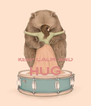 KEEP CALM AND HUG  - Personalised Poster A4 size