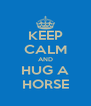 KEEP CALM AND HUG A HORSE - Personalised Poster A4 size