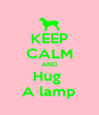 KEEP CALM AND Hug  A lamp - Personalised Poster A4 size