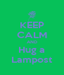 KEEP CALM AND Hug a Lampost - Personalised Poster A4 size