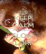 KEEP CALM AND HUG A  SLOW LORI - Personalised Poster A4 size