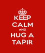 KEEP CALM AND HUG A TAPIR - Personalised Poster A4 size