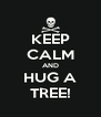 KEEP CALM AND HUG A TREE! - Personalised Poster A4 size