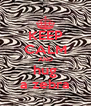KEEP CALM AND hug a zebra - Personalised Poster A4 size