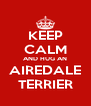 KEEP CALM AND HUG AN AIREDALE TERRIER - Personalised Poster A4 size