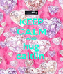 KEEP CALM AND hug caitlin  - Personalised Poster A4 size