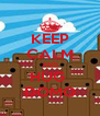 KEEP CALM AND HUG  DOMO - Personalised Poster A4 size