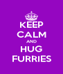 KEEP CALM AND HUG FURRIES - Personalised Poster A4 size
