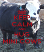 KEEP CALM AND HUG MINI COWS - Personalised Poster A4 size
