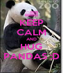 KEEP CALM AND HUG PANDAS :D - Personalised Poster A4 size