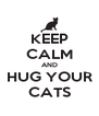 KEEP CALM AND HUG YOUR CATS - Personalised Poster A4 size